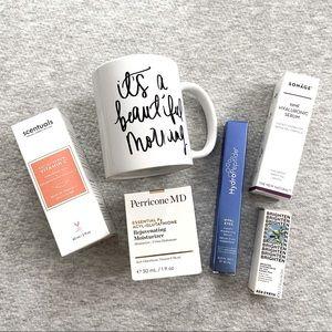 Bundle of skin care serums moisturizers eye cream